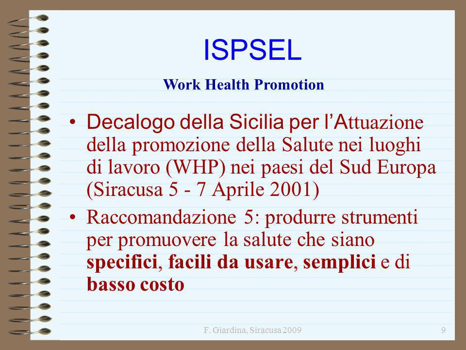 ISPSEL Work Health Promotion.