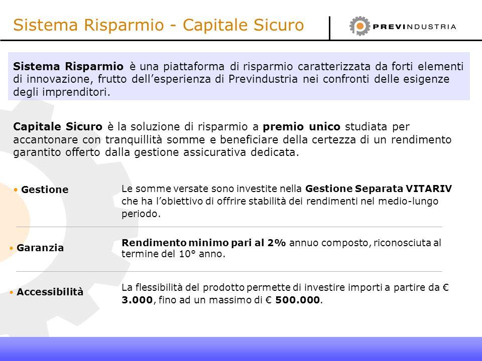 Sistema Risparmio - Capitale Sicuro