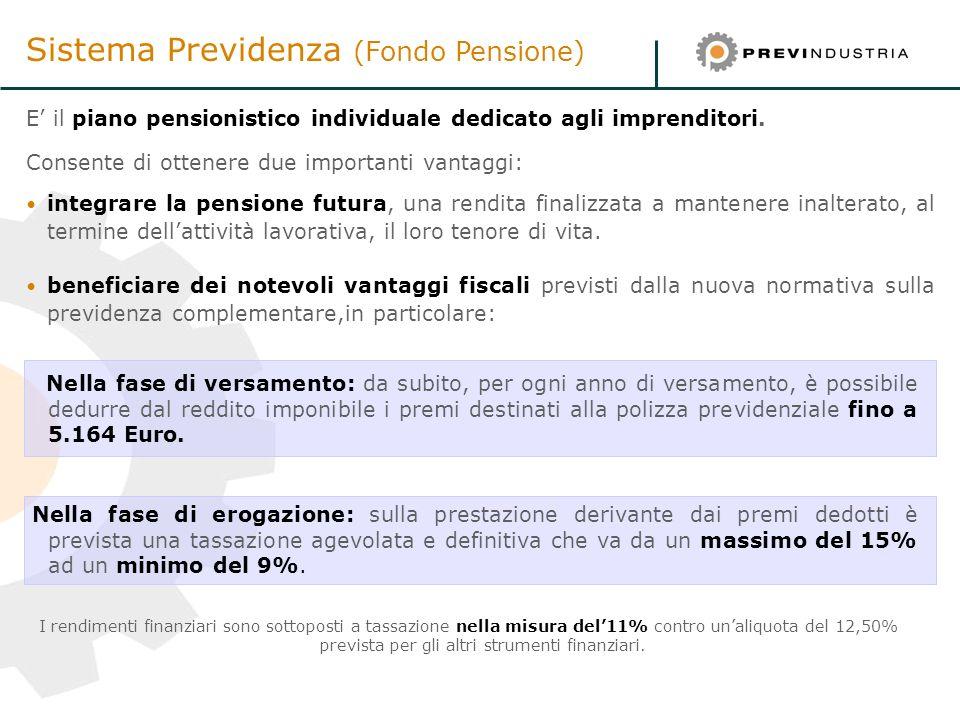 Sistema Previdenza (Fondo Pensione)