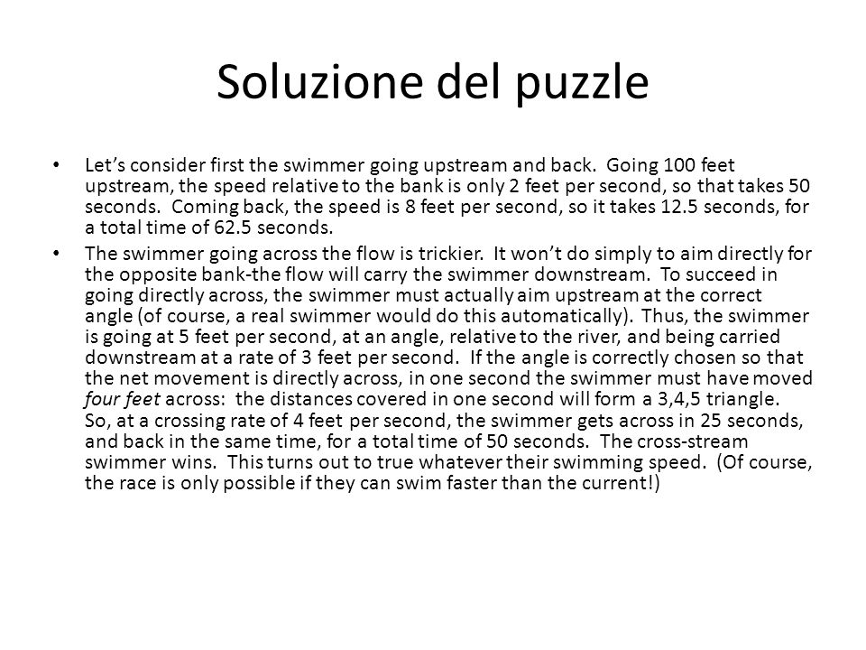 Soluzione del puzzle