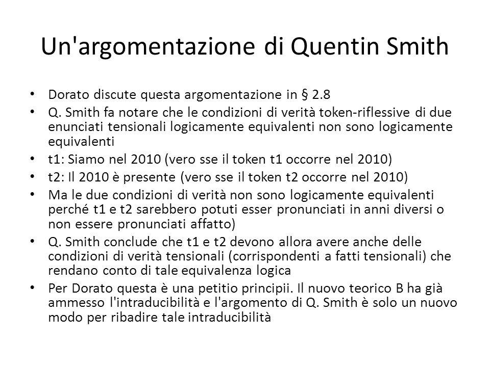 Un argomentazione di Quentin Smith