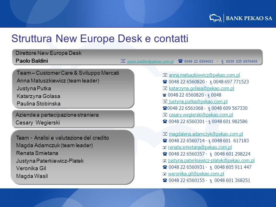 Struttura New Europe Desk e contatti