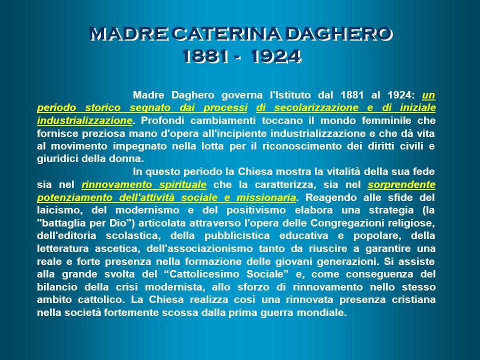MADRE CATERINA DAGHERO 1881 - 1924