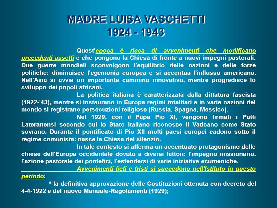 MADRE LUISA VASCHETTI 1924 - 1943