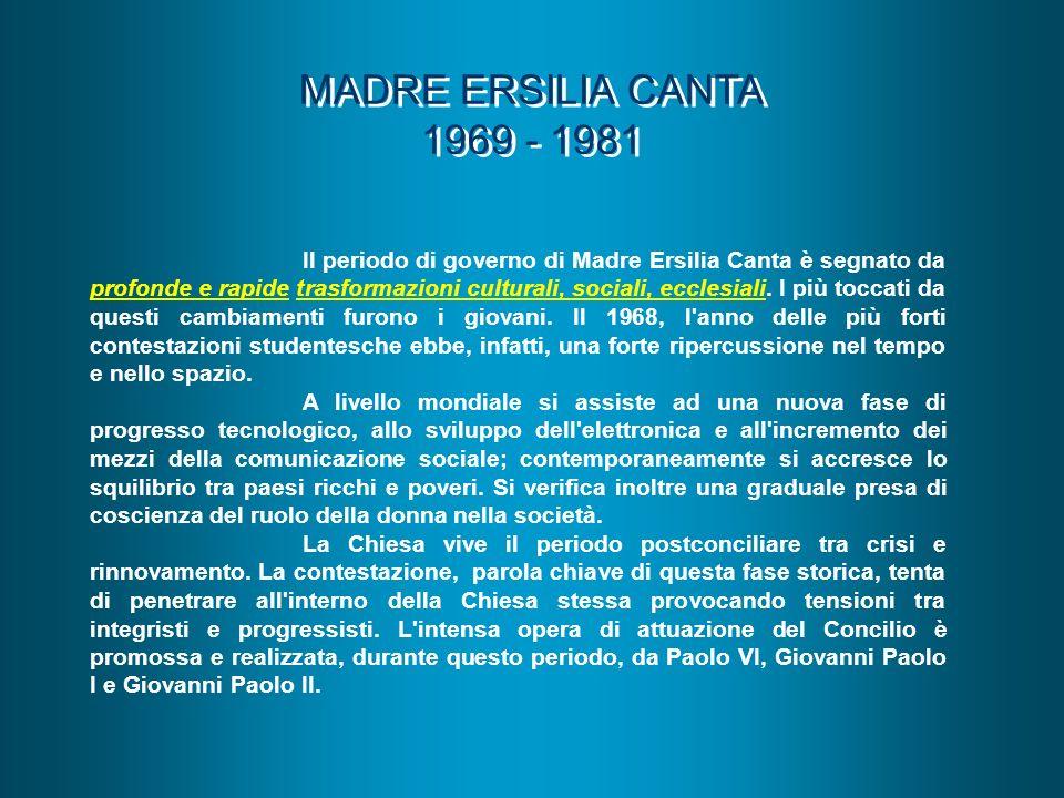 MADRE ERSILIA CANTA 1969 - 1981