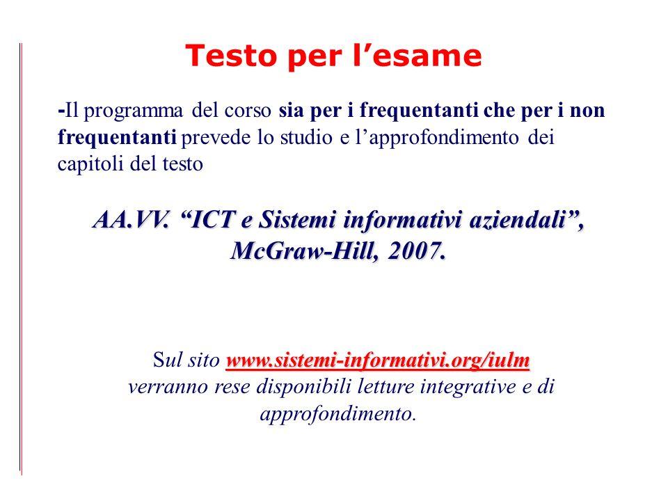 AA.VV. ICT e Sistemi informativi aziendali ,