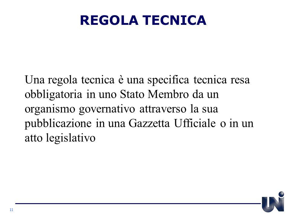 REGOLA TECNICA