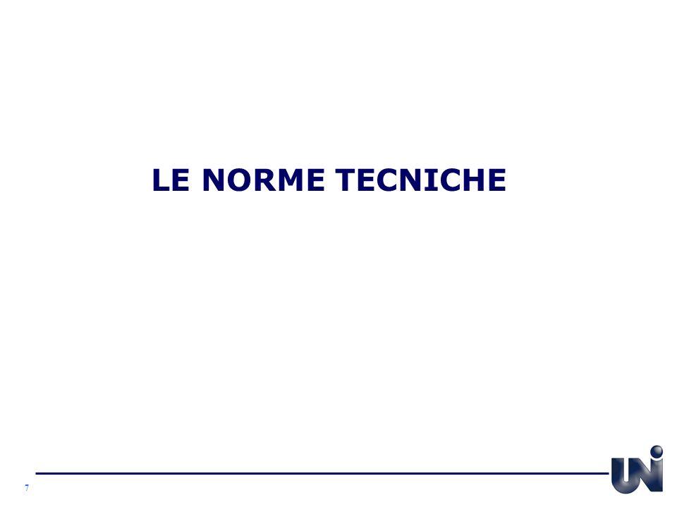 LE NORME TECNICHE