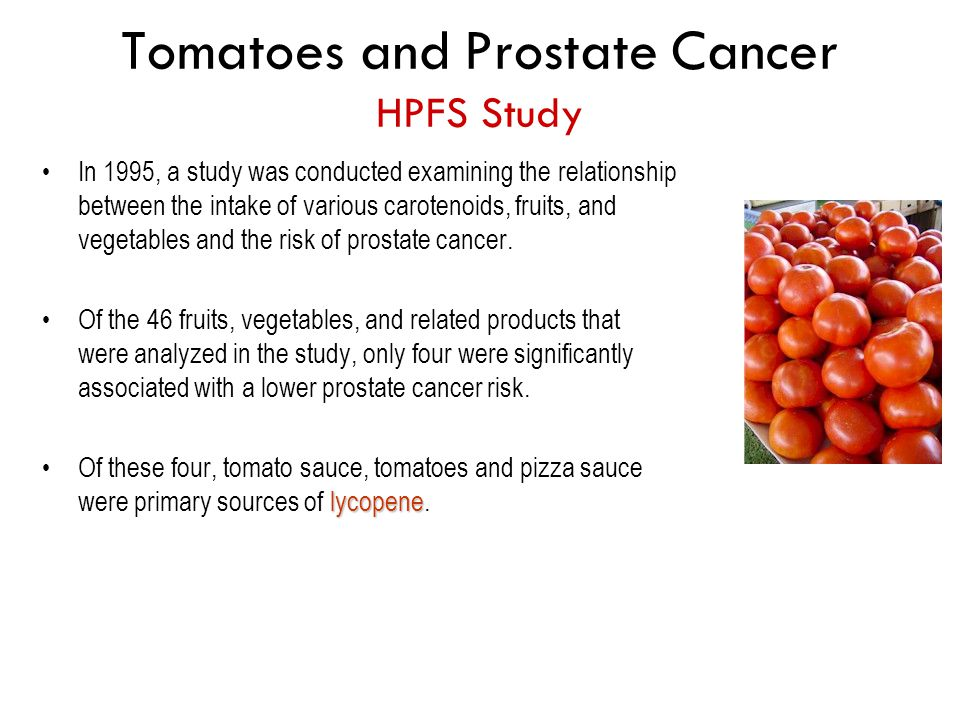 Tomatoes and Prostate Cancer HPFS Study