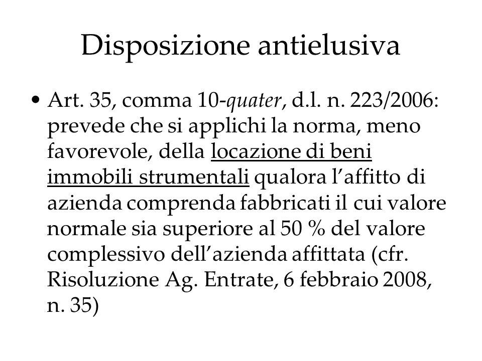 Disposizione antielusiva