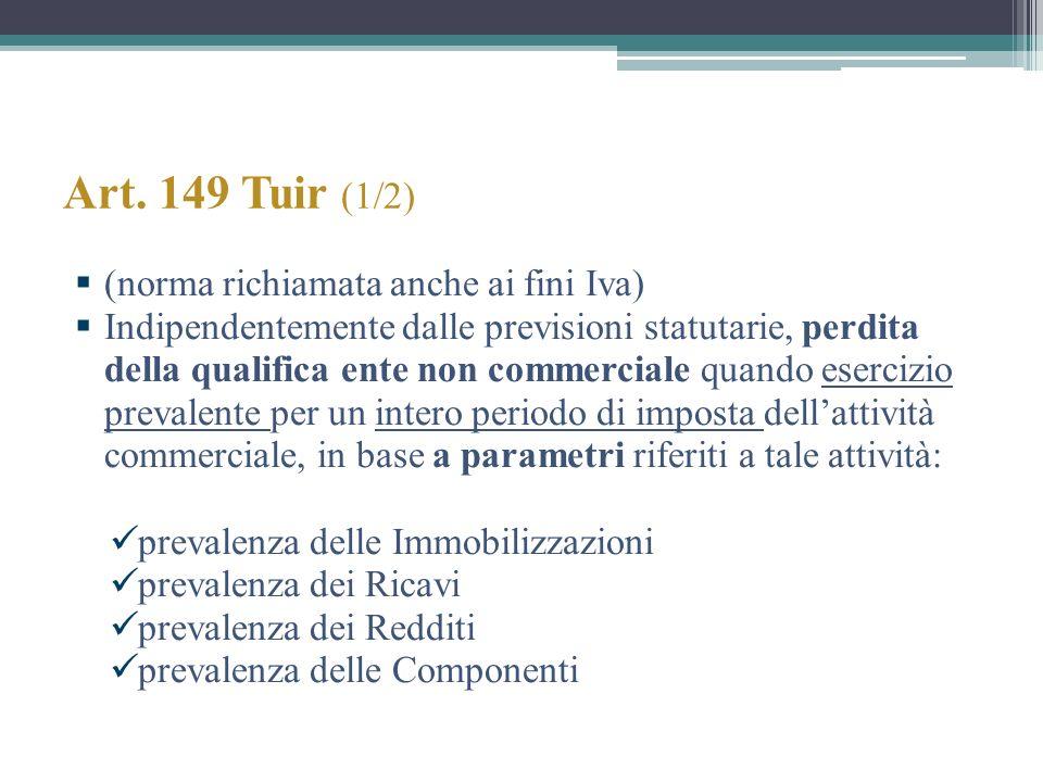 Art. 149 Tuir (1/2) (norma richiamata anche ai fini Iva)