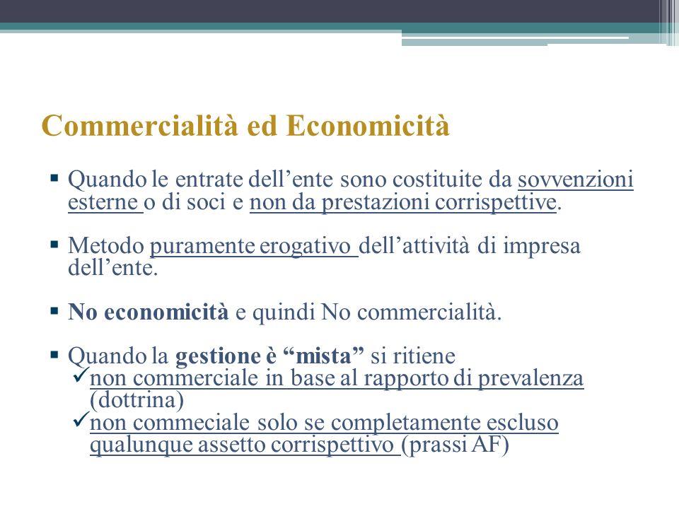 Commercialità ed Economicità