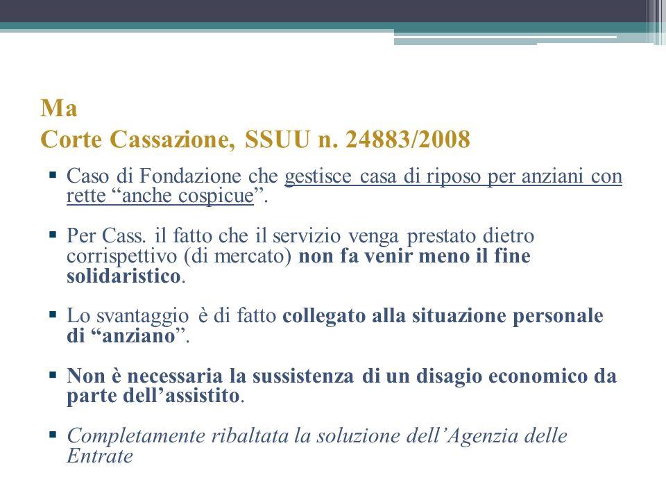 Ma Corte Cassazione, SSUU n. 24883/2008