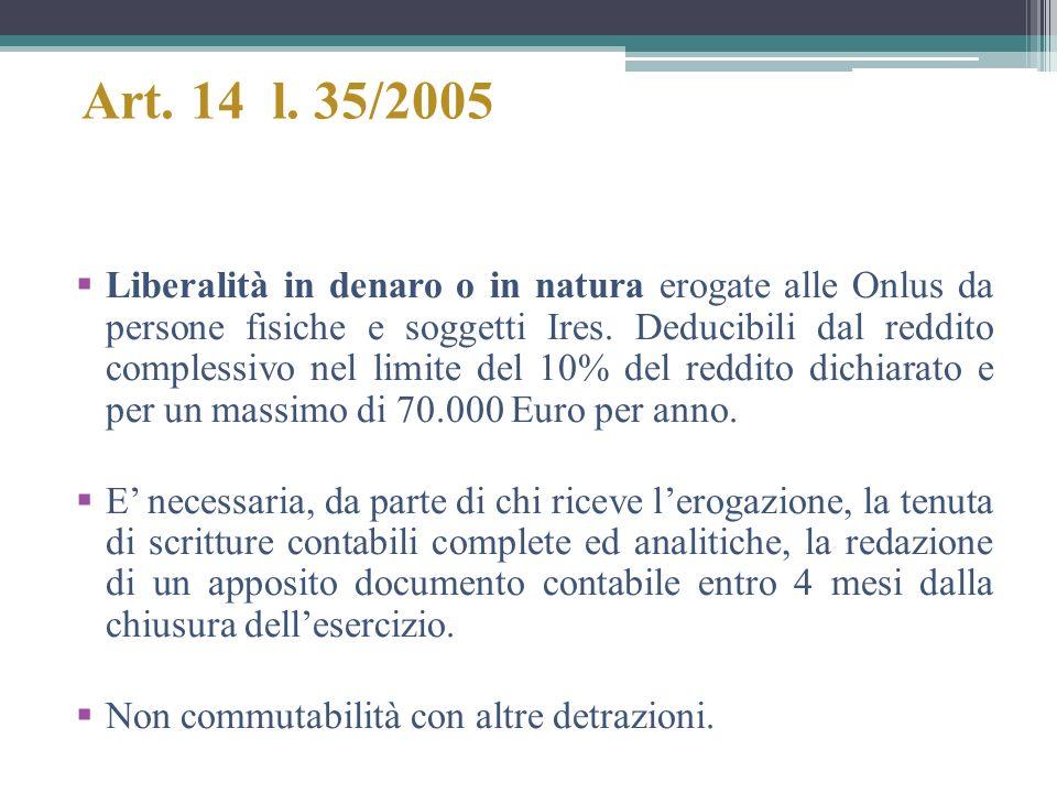 Art. 14 l. 35/2005