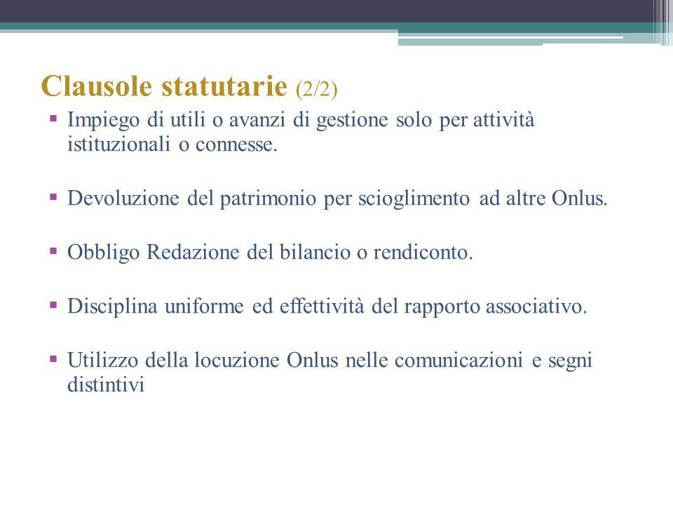 Clausole statutarie (2/2)