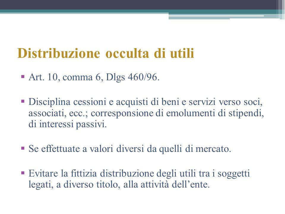 Distribuzione occulta di utili