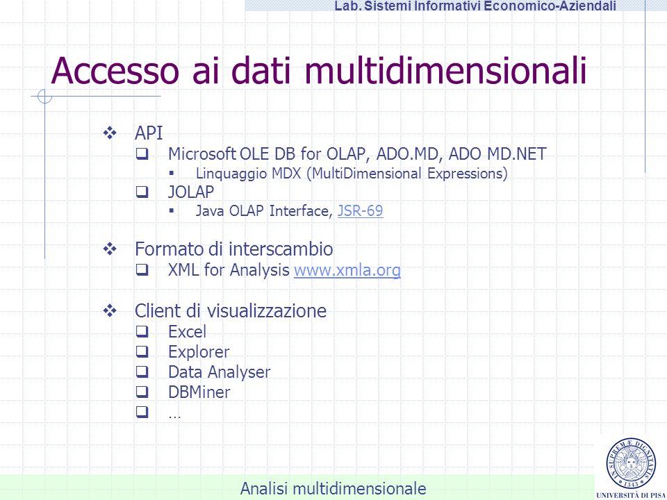 Accesso ai dati multidimensionali