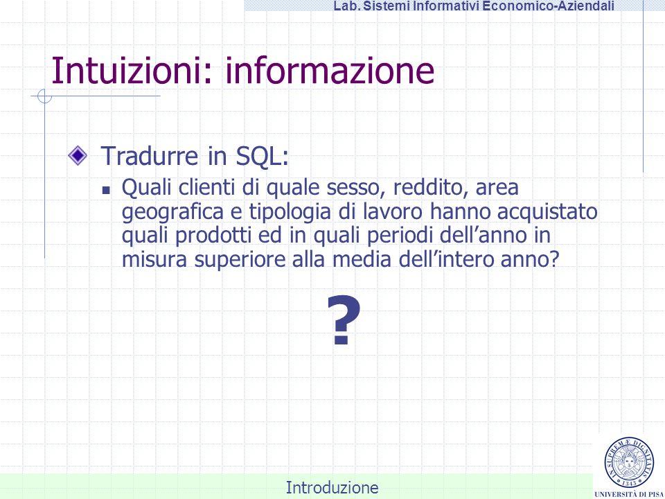 Intuizioni: informazione