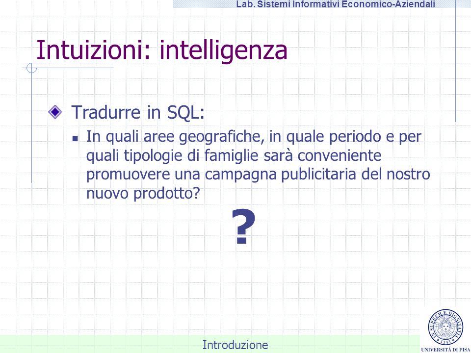 Intuizioni: intelligenza