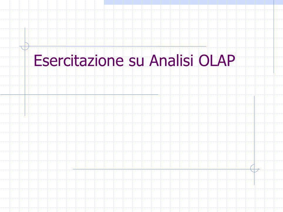 Esercitazione su Analisi OLAP