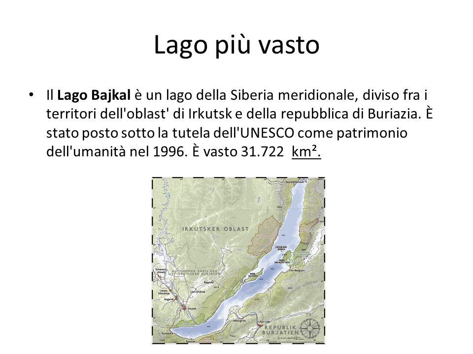 Lago più vasto