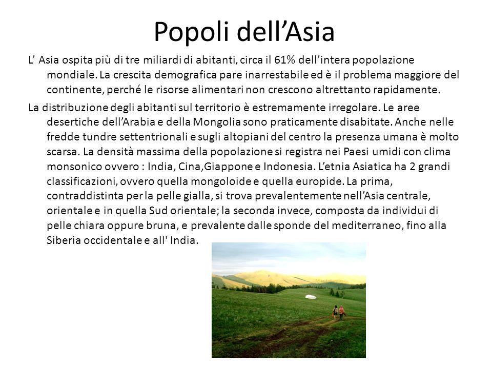 Popoli dell'Asia