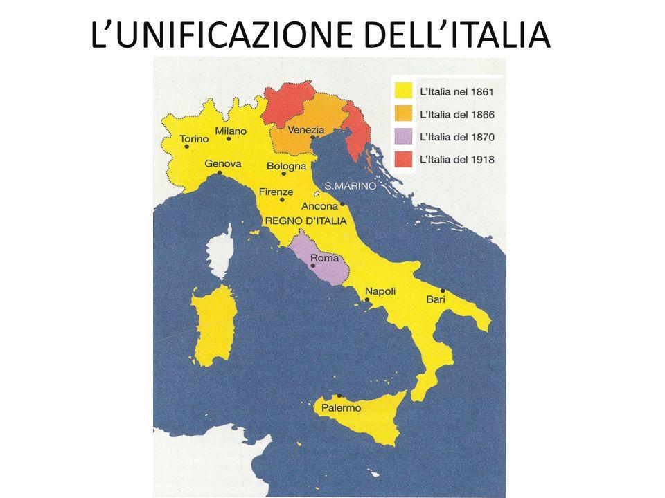 L'UNIFICAZIONE DELL'ITALIA