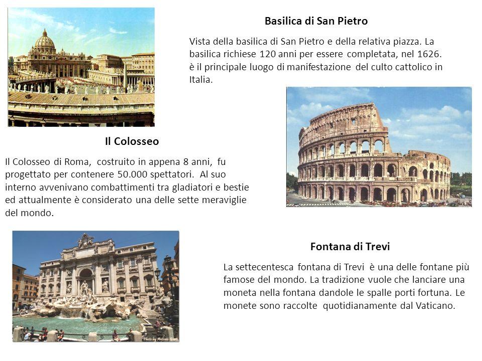 Basilica di San Pietro Il Colosseo Fontana di Trevi