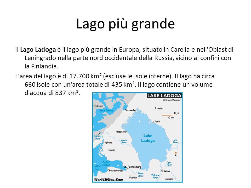 Lago più grande