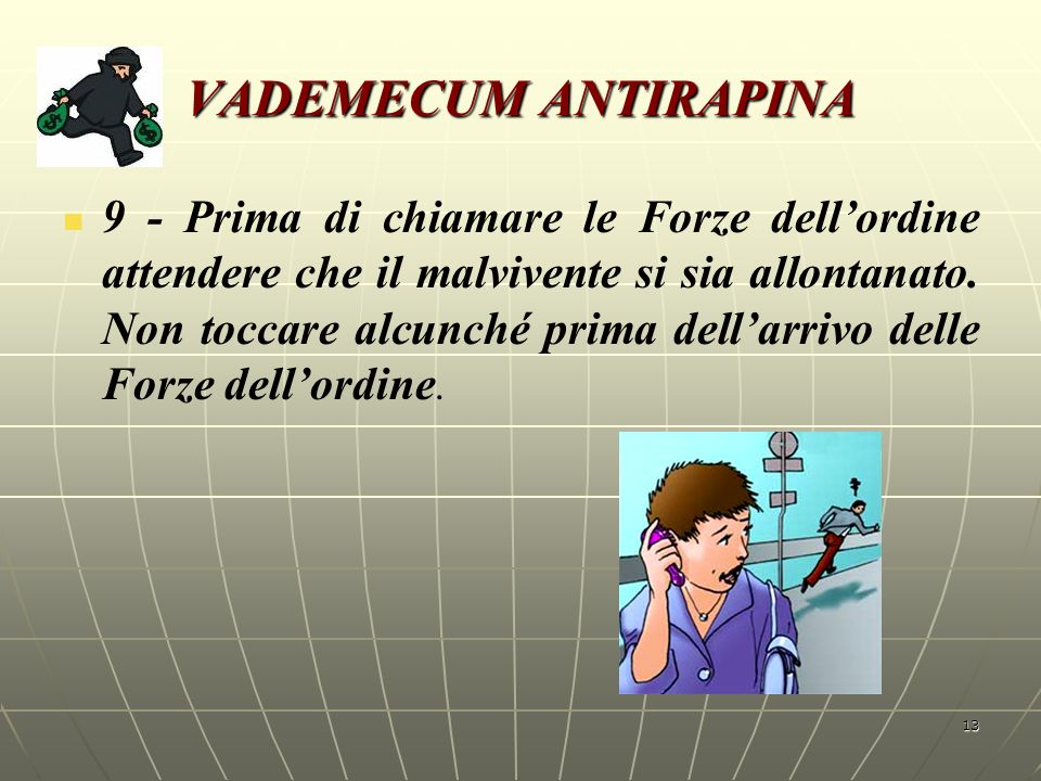 VADEMECUM ANTIRAPINA