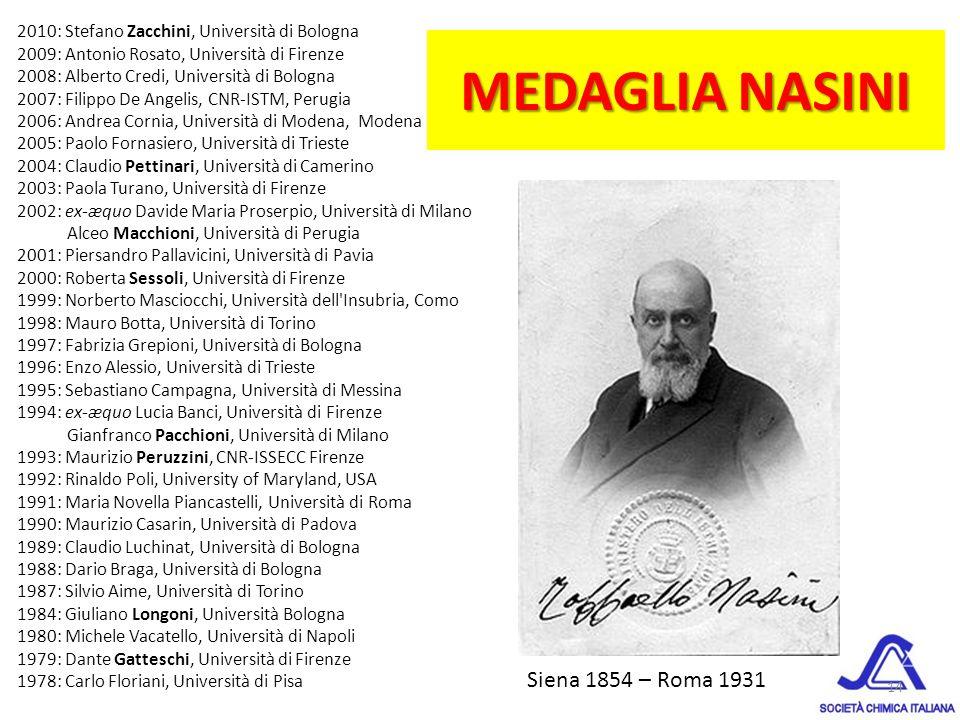 MEDAGLIA NASINI Siena 1854 – Roma 1931