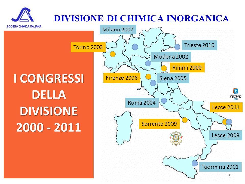 I CONGRESSI DELLA DIVISIONE 2000 - 2011