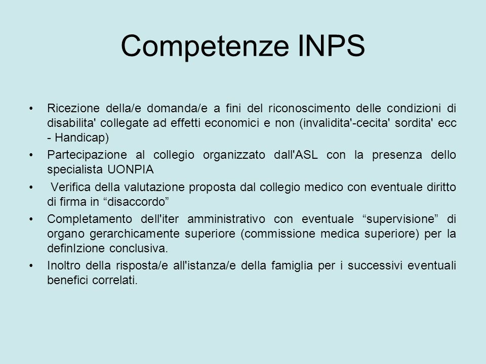 Competenze INPS