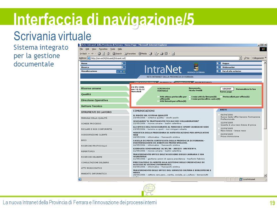 Interfaccia di navigazione/5