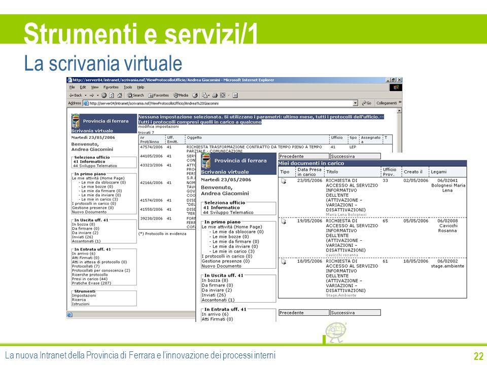 Strumenti e servizi/1 La scrivania virtuale 22