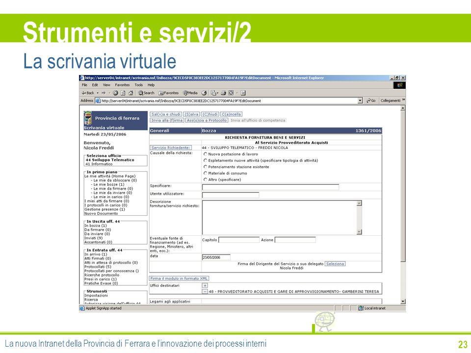 Strumenti e servizi/2 La scrivania virtuale 23
