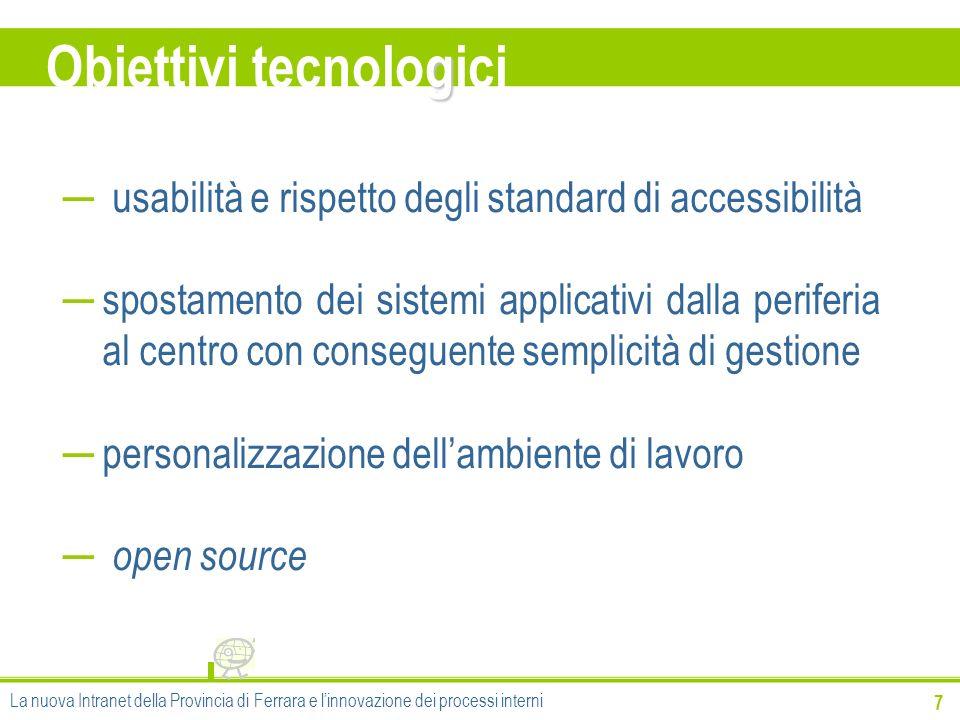 Obiettivi tecnologici