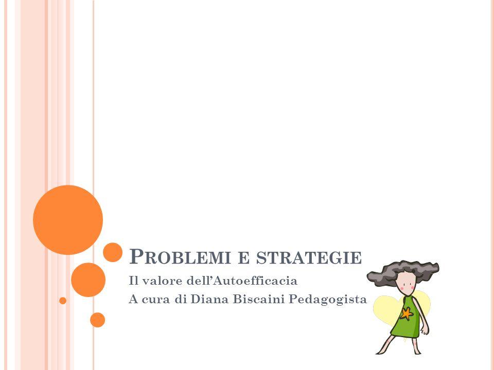 Il valore dell'Autoefficacia A cura di Diana Biscaini Pedagogista