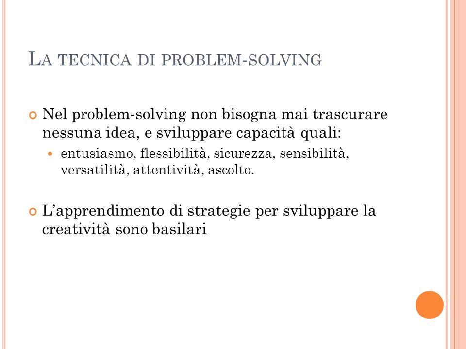 La tecnica di problem-solving