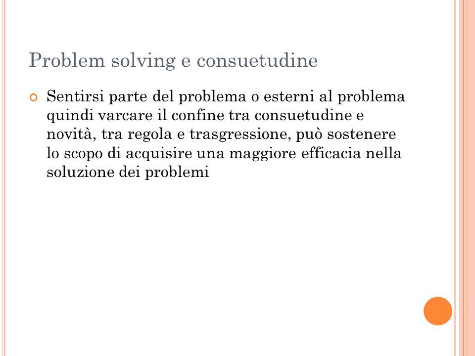 Problem solving e consuetudine