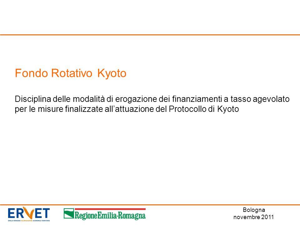 Fondo Rotativo Kyoto Disciplina delle modalità di erogazione dei finanziamenti a tasso agevolato per le misure finalizzate all'attuazione del Protocollo di Kyoto