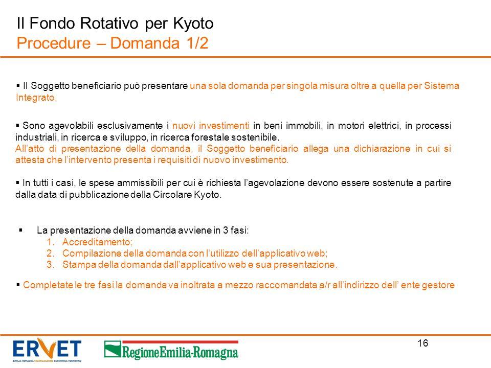 Il Fondo Rotativo per Kyoto Procedure – Domanda 1/2