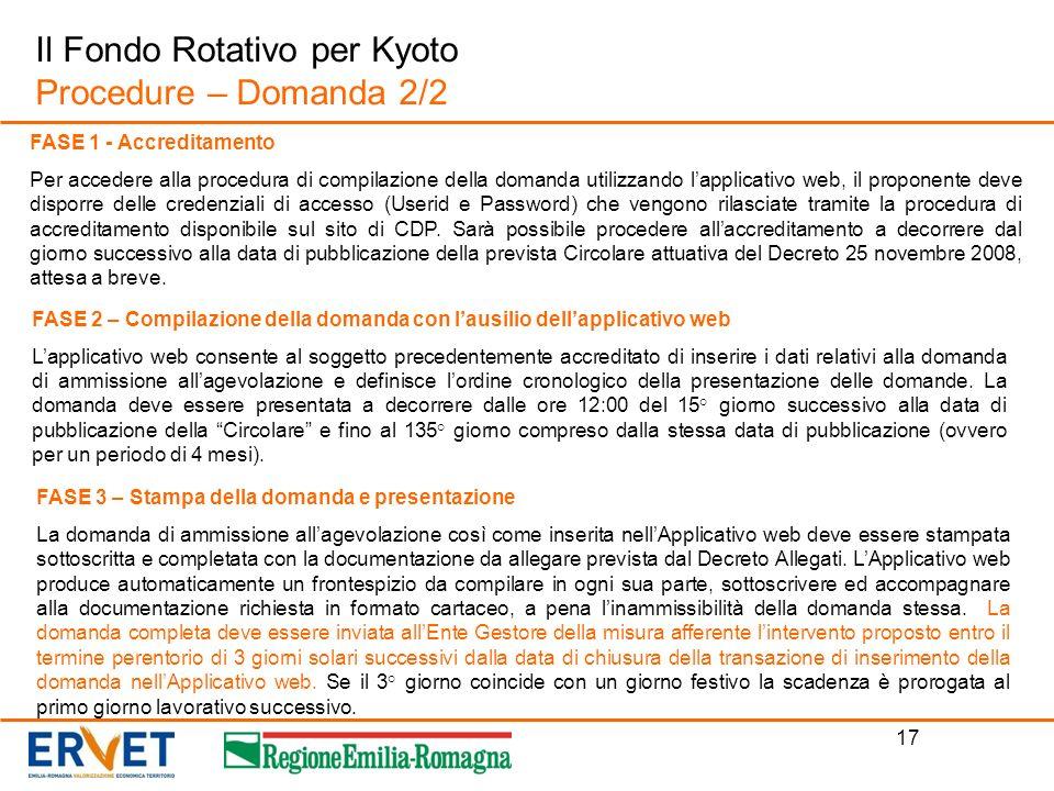 Il Fondo Rotativo per Kyoto Procedure – Domanda 2/2