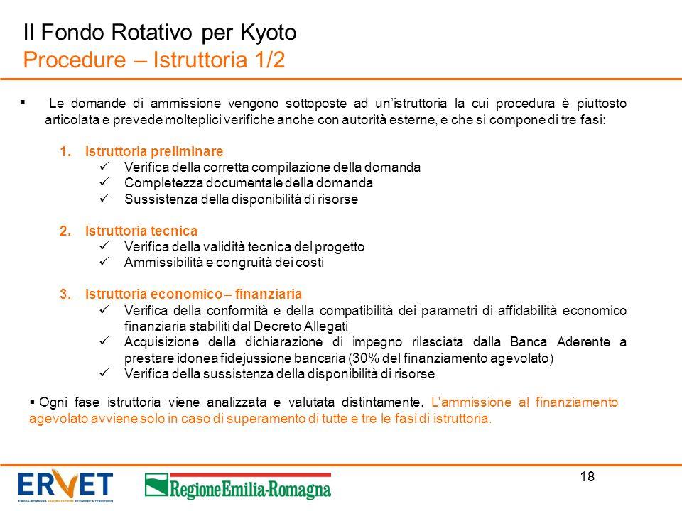 Il Fondo Rotativo per Kyoto Procedure – Istruttoria 1/2