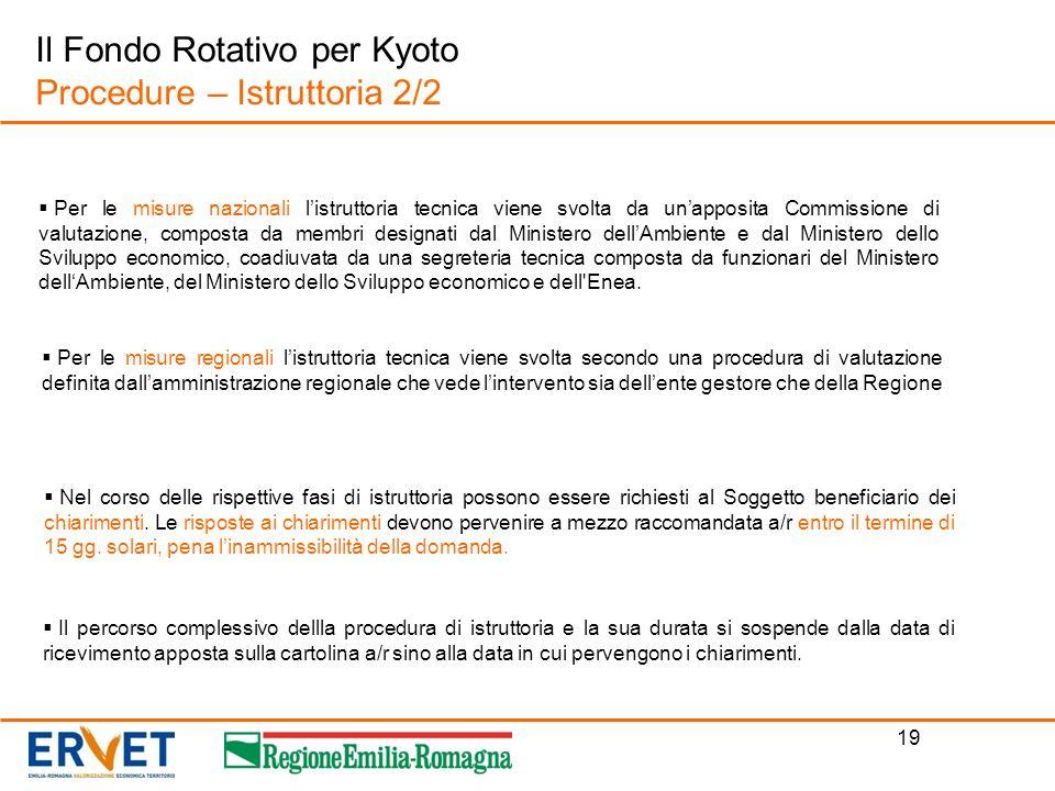 Il Fondo Rotativo per Kyoto Procedure – Istruttoria 2/2