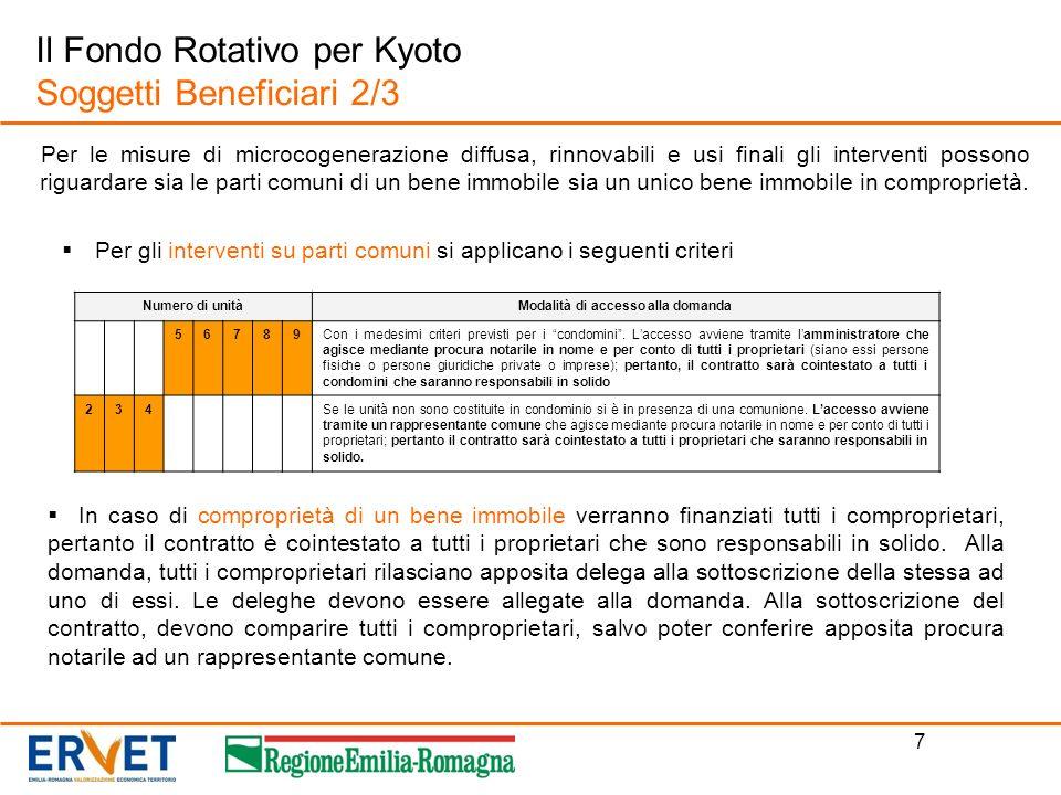 Il Fondo Rotativo per Kyoto Soggetti Beneficiari 2/3