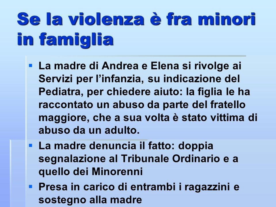 Se la violenza è fra minori in famiglia