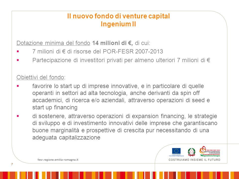 Il nuovo fondo di venture capital