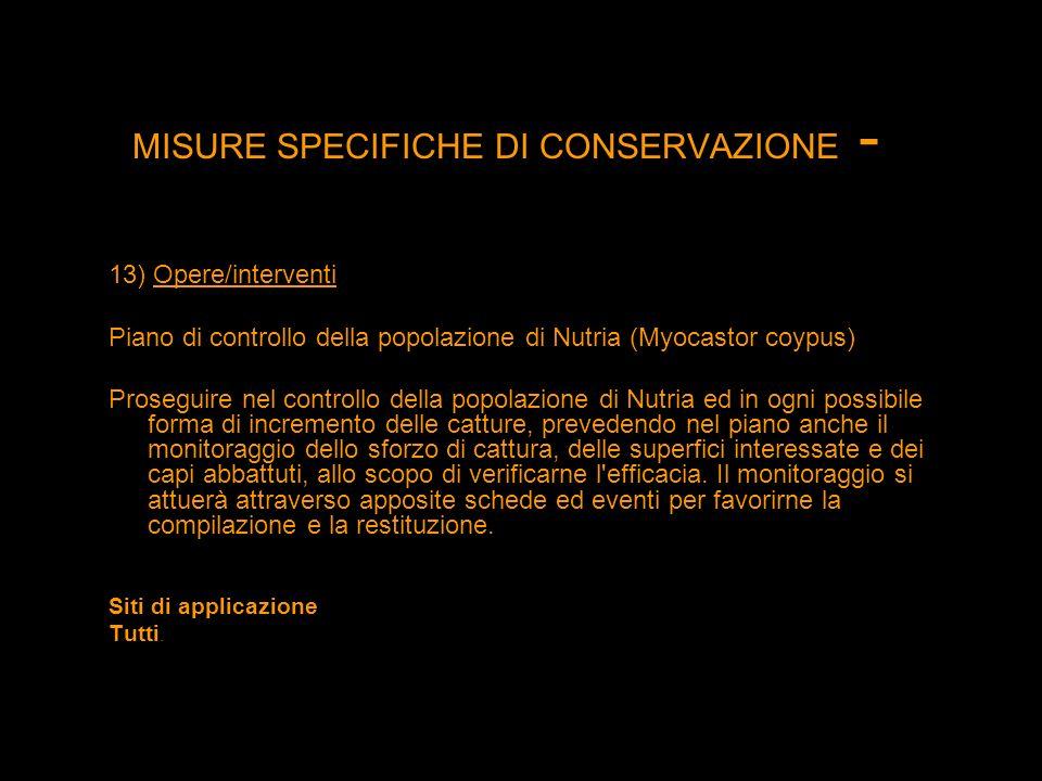 MISURE SPECIFICHE DI CONSERVAZIONE -