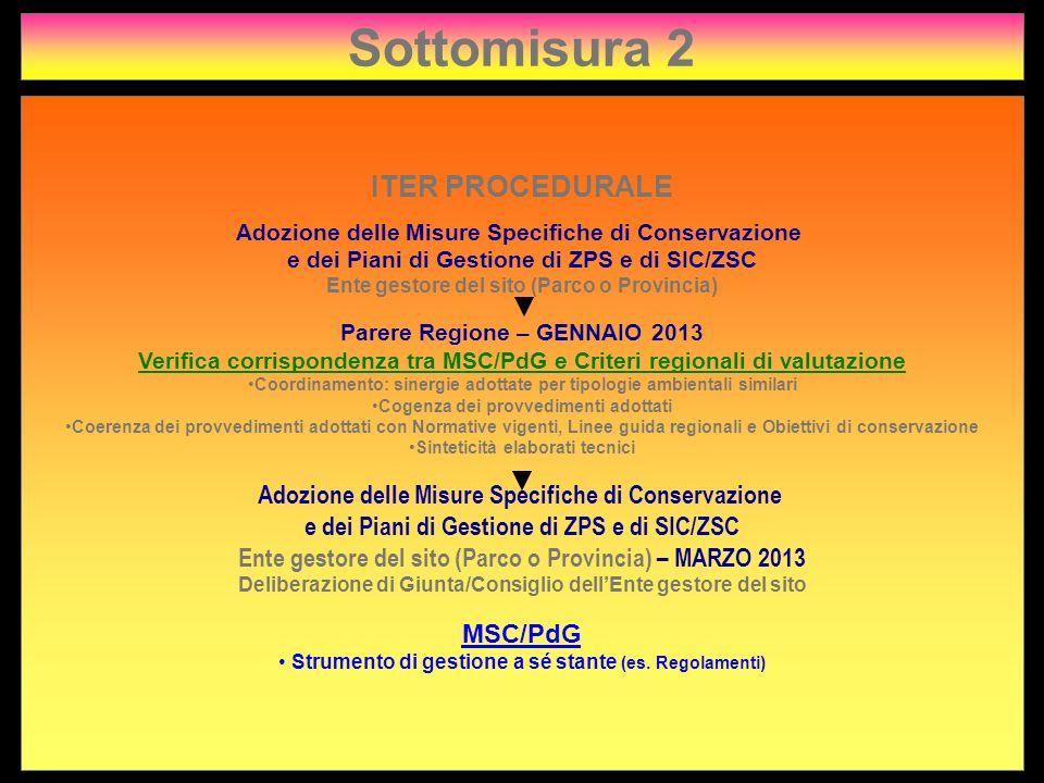 Sottomisura 2 ITER PROCEDURALE